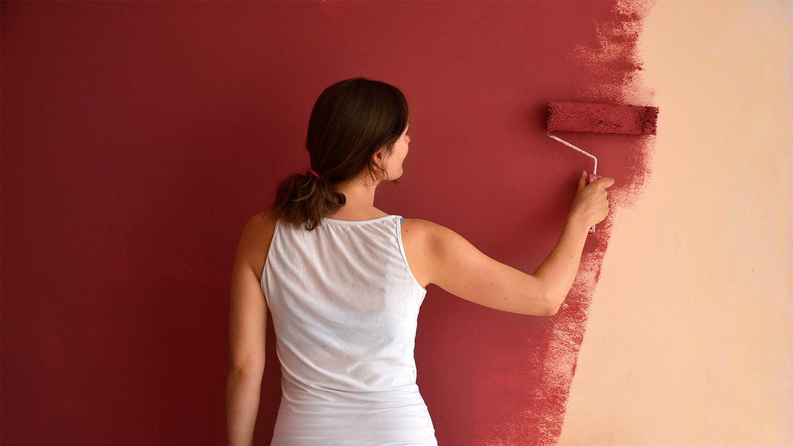 Painting red