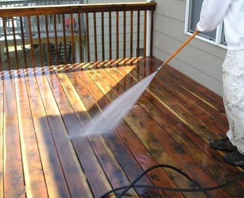 Deck Washing After Sanding