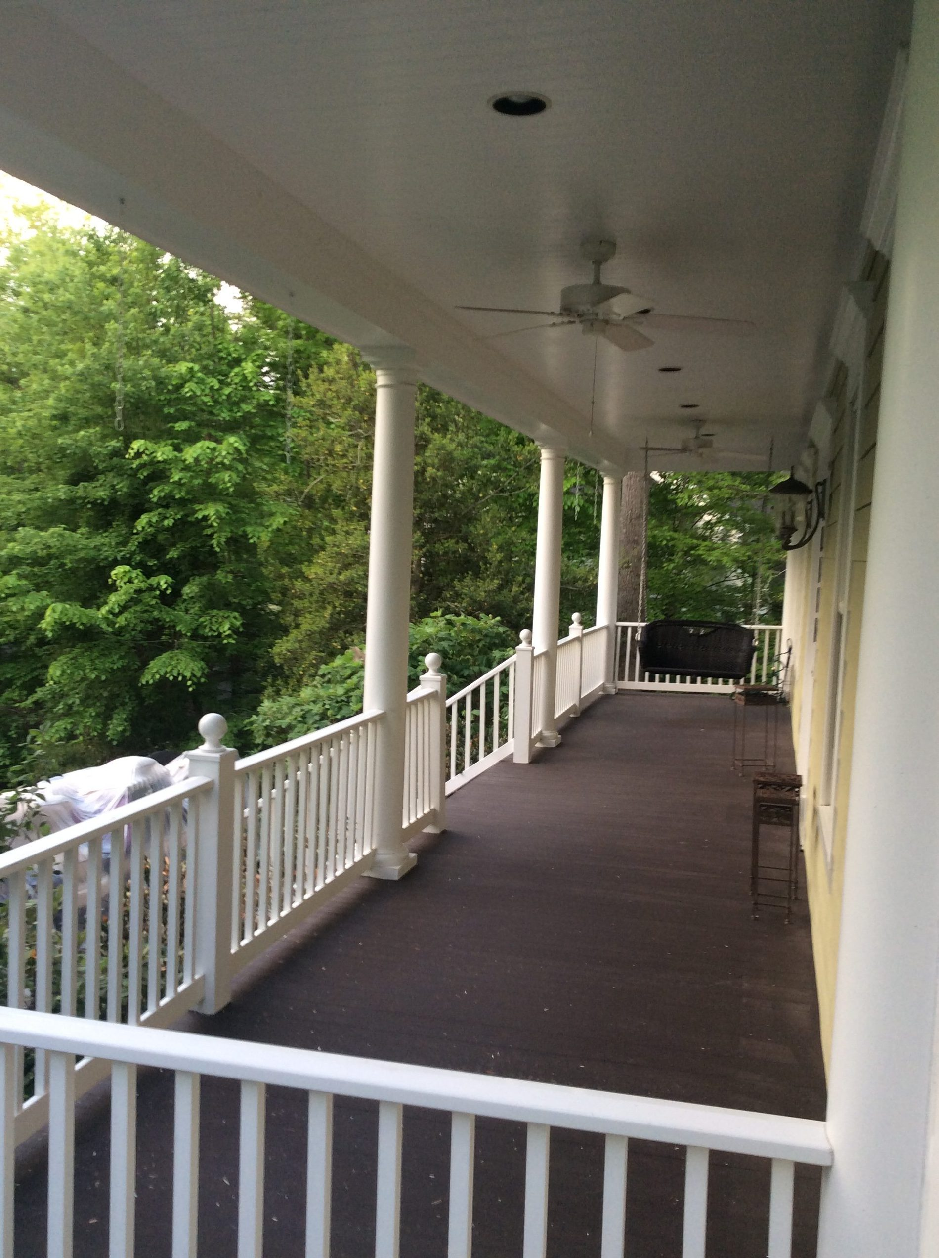 Porch Front Exterior Painting in Chantilly, VA