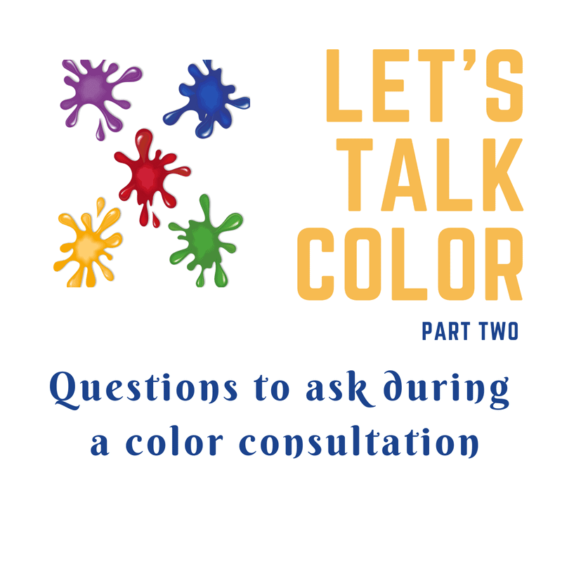 Questions to ask during a color consultation
