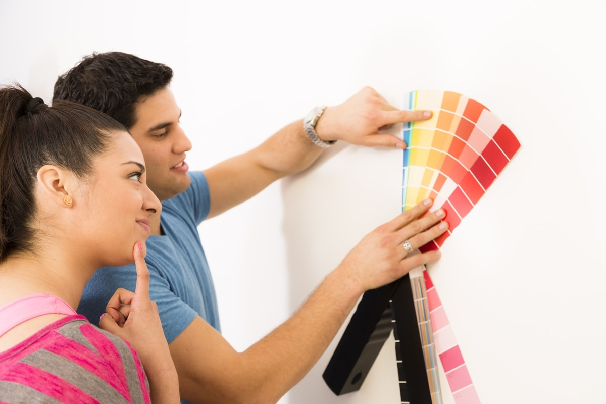 Selecting paint color for walls