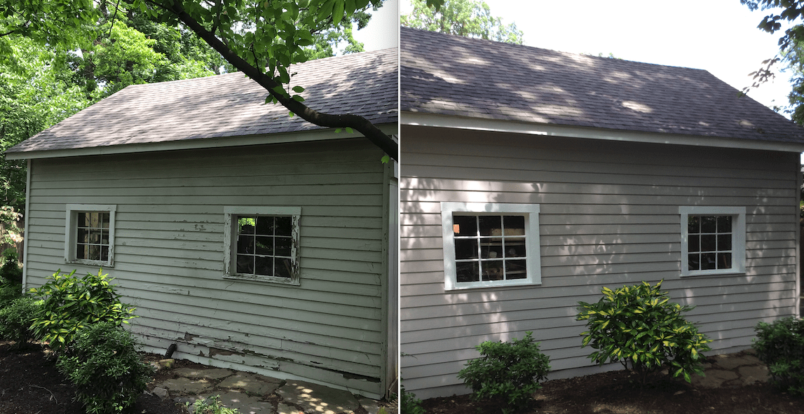 Garage project transformation before and after